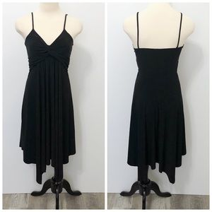 ❄️B Starlet Twist Front Spagetti Strap Black Dress